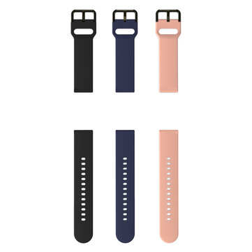 BlitzWolf® 20mm Universal Replacement Silicone Watch Band for BW-HL1/ BW-HL2/ Galaxy Watch Active2/ Amazfit Bip Lite Smart Watch