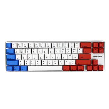 [Gateron Switch] Magicforce Smart 2 68 Keys Backlit bluetooth 4.0 Dual Mode PBT Keycap Mechanical Gaming Keyboard for Desktop and Laptop