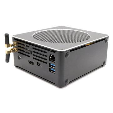 Eglobal S200 Mini PC Xeon E-2176M Barebone Hexa Core Win10 DDR4 Intel UHD Graphics 630 4.4GHz Fanless Mini Desktop PC SATA mSATA MIC VGA HDMI 1000M WIFI