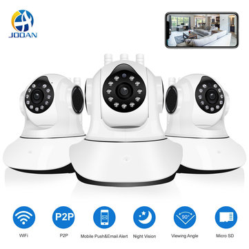 Jooan C6C HD 1080P WIFI IP Camera 11 LED PT 360° Built-in Antenna IP Camera Motion-Detection Two-way Audio Baby Monitors