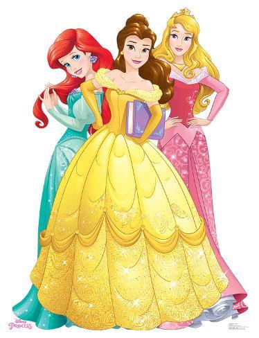 Princesses Group Ariel Belle Aurora Disney Princess Friendship Adventures Cardboard Cutouts Allposters Com