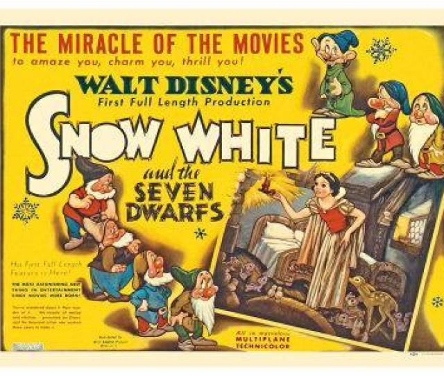 Snow White And The Seven Dwarfs Uk Movie Poster 1937 Art Print By Art Com