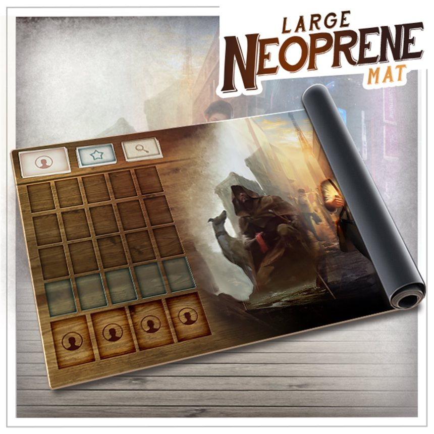Chronicles of Crime - The Millennium Series by Lucky Duck Games - Large  Neoprene Mat - gamefound.com