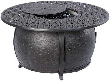 Alfresco Home Bay Ridge 36 Round Gas Fire PitChat Table With Burner Kit 55 1370