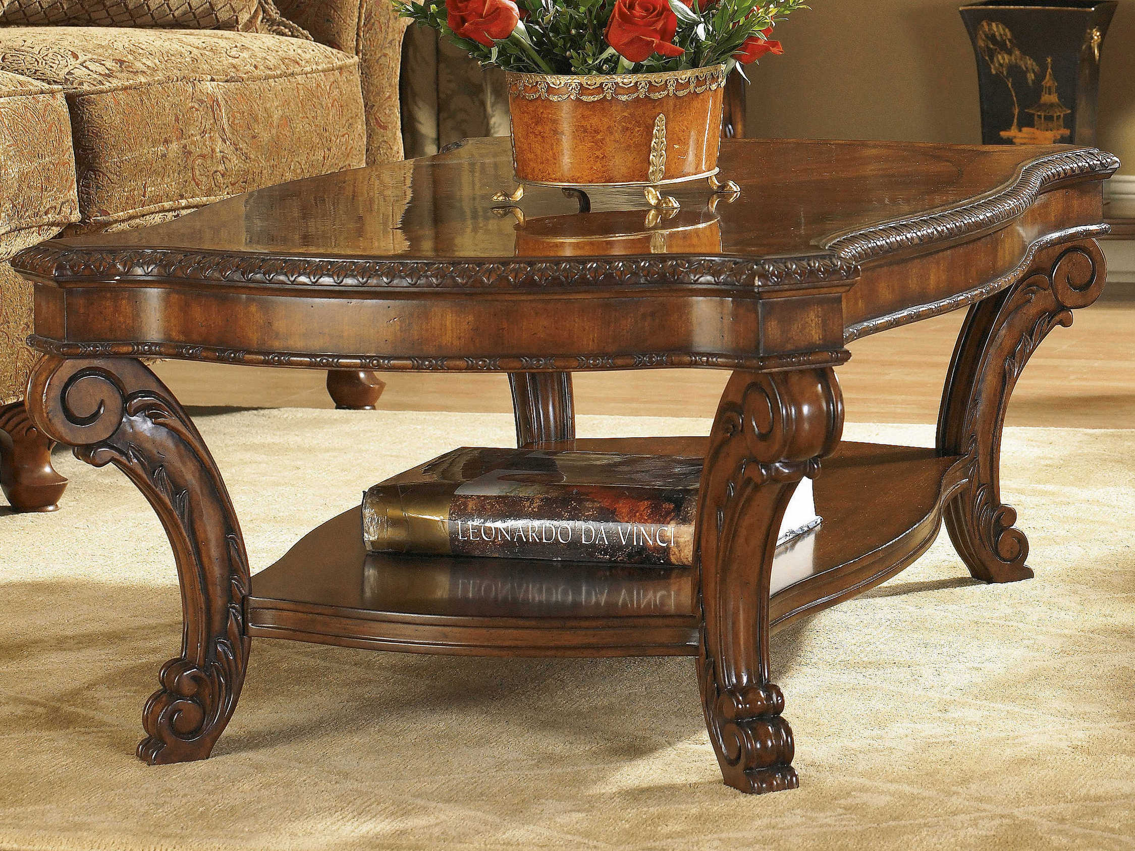 a r t furniture old world 52 x 31 rectangular cocktail table