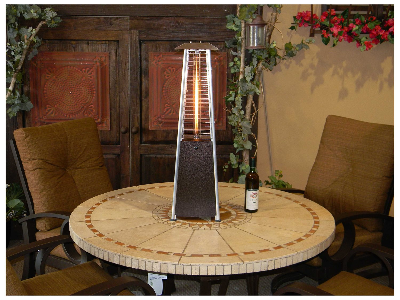 az patio heaters portable bronze glass tube patio heater
