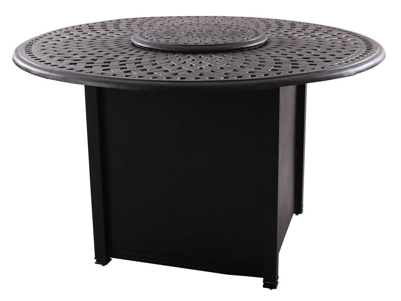 Darlee Outdoor Living Series 60 Cast Aluminum 60 Round ... on Outdoor Dining Tables With Fire Pit id=19048