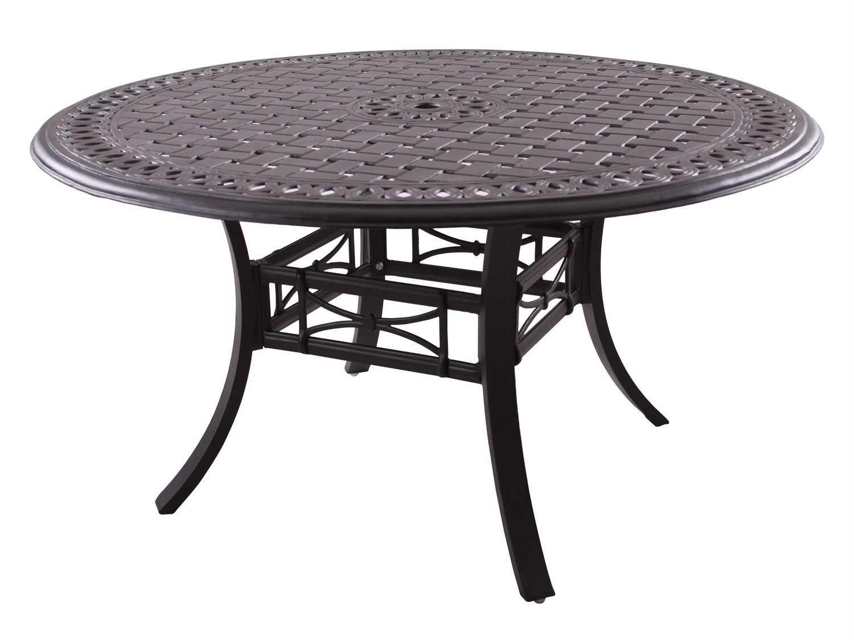 darlee outdoor living series 88 cast aluminum antique bronze 54 round dining table
