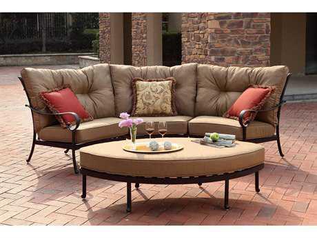 darlee outdoor living santa anita antique bronze cast aluminum lounge set