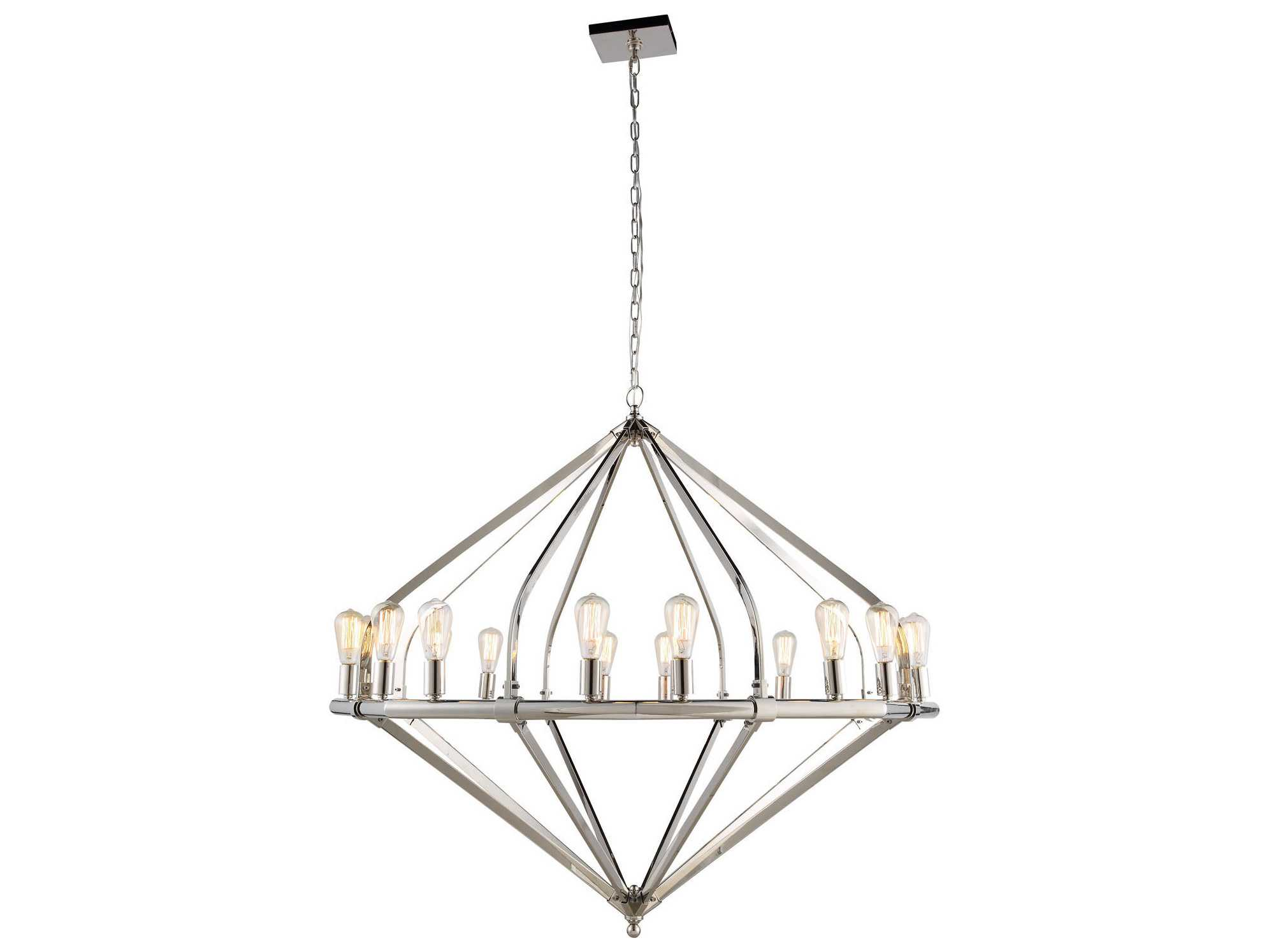 Elegant Lighting Illumina Polished Nickel 16 Lights 52