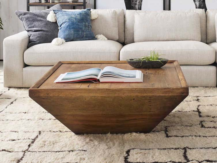 four hands harmon reclaimed fruitwood 42 wide square coffee table