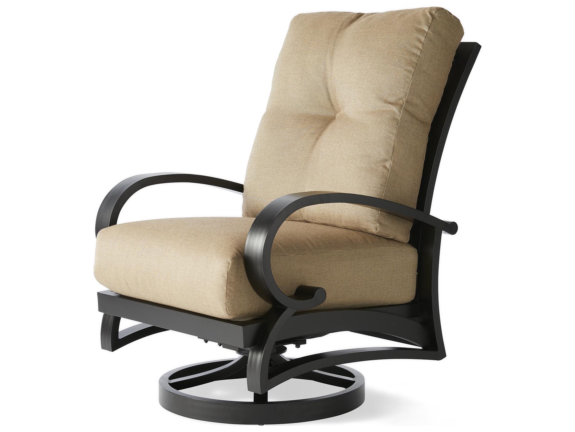 mallin salisbury cast aluminum swivel rocker lounge chair