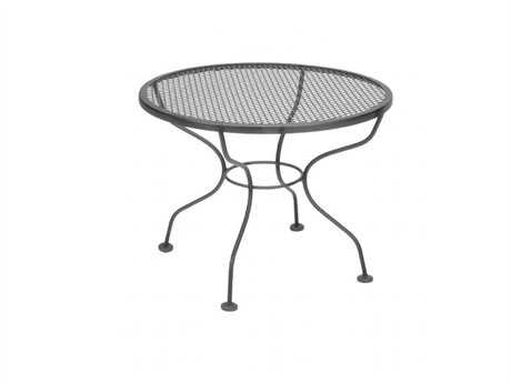 meadowcraft micro mesh wrought iron 24 wide round coffee table