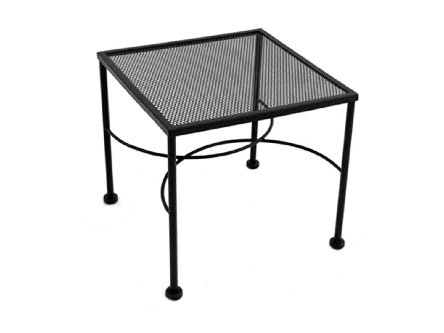 Meadowcraft Micro Mesh Wrought Iron 20 Wide Square End Table 3041220 01