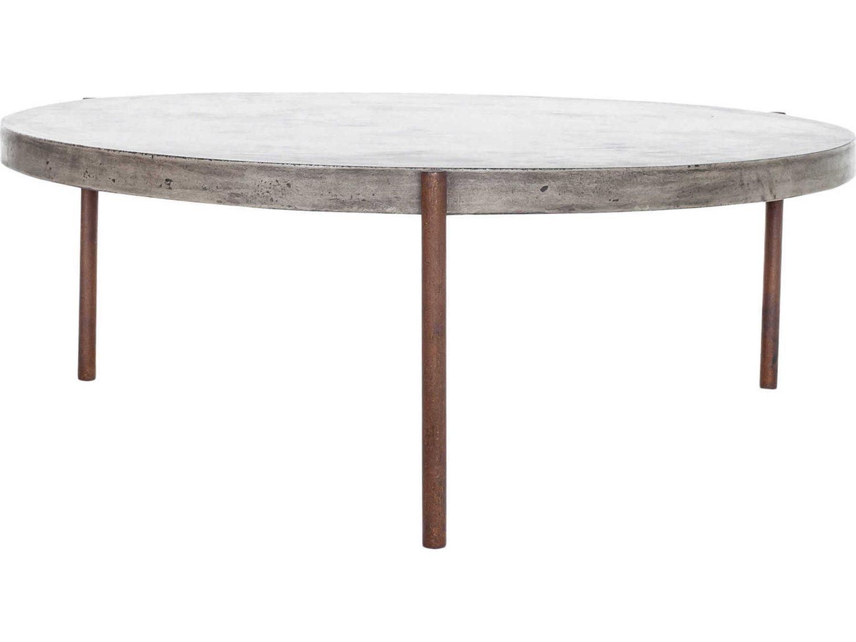 moe s home outdoor dark grey 36 wide concrete round coffee table