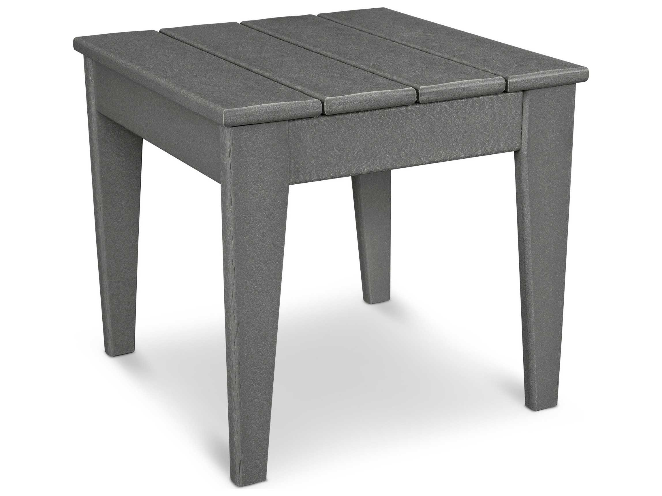 POLYWOOD® Modern Recycled Plastic 18.25 Square Side Table