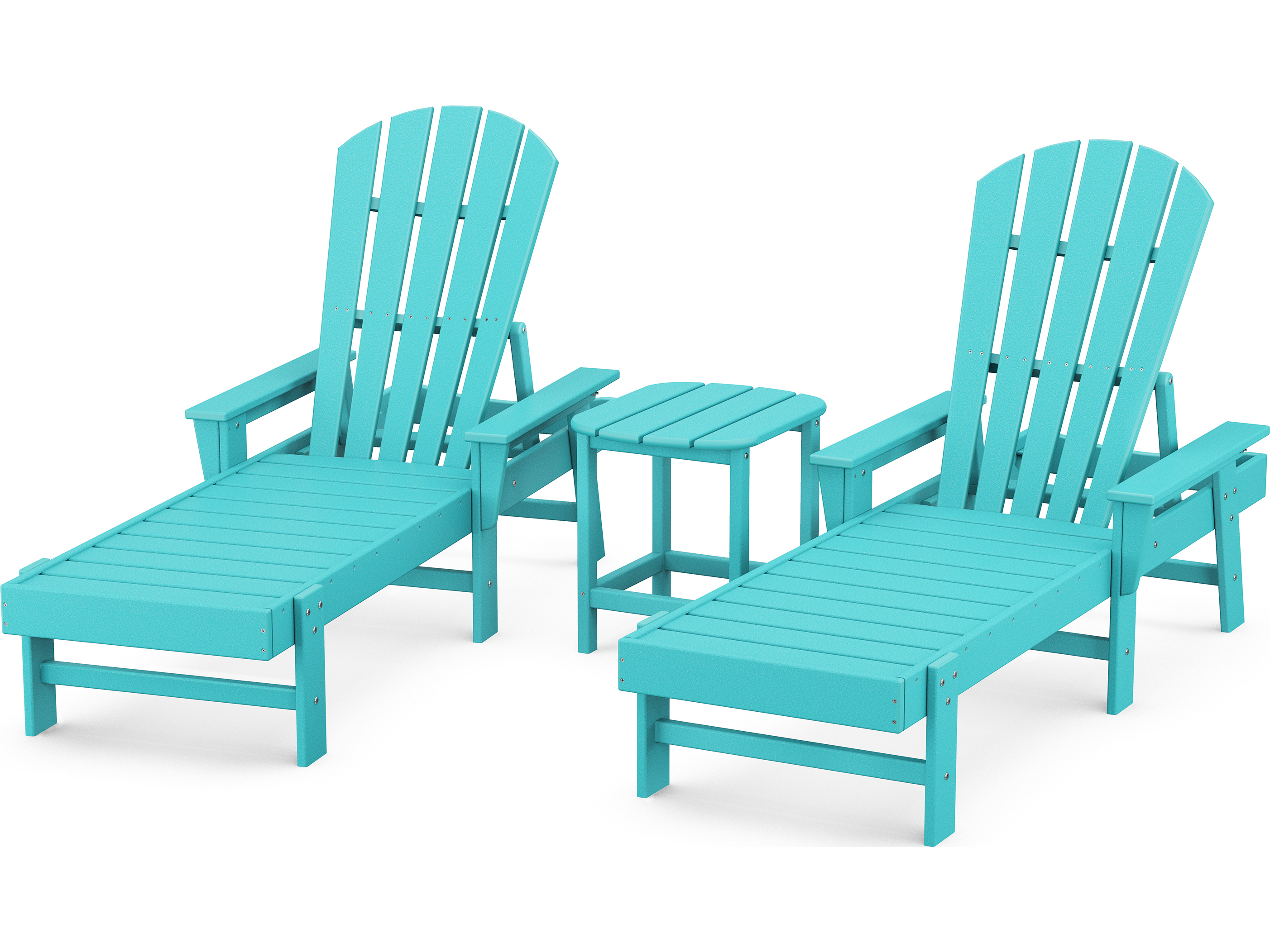 Polywood South Beach Recycled Plastic Chaise 3 Piece Set