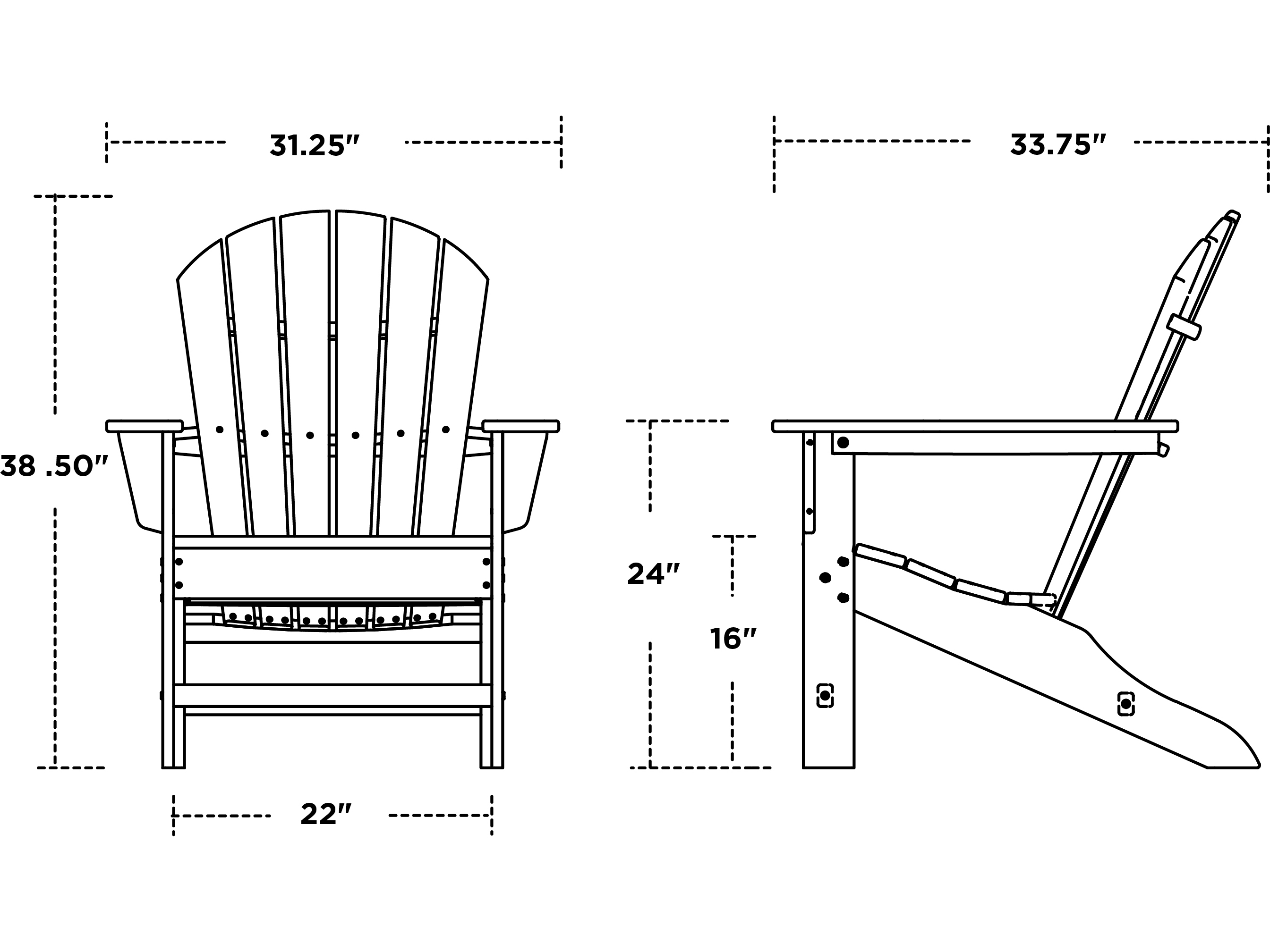 POLYWOOD® South Beach Recycled Plastic Adirondack Chair