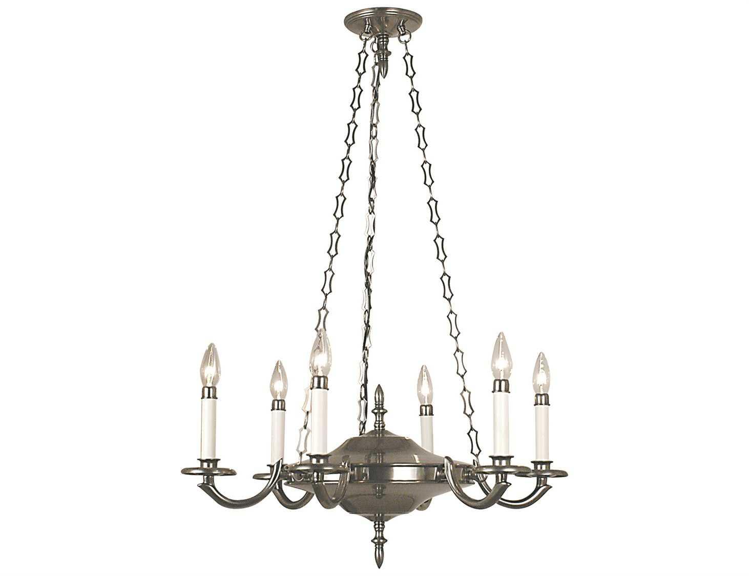 Framburg Napoleonic Antique Silver Six Light 25 Wide