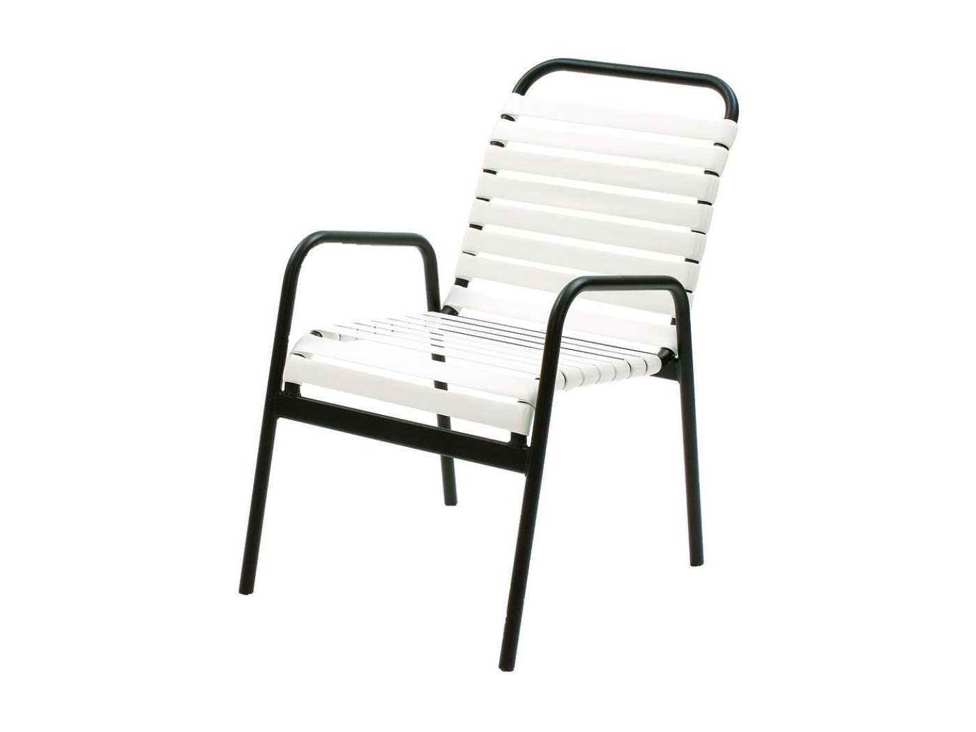 Suncoast Sanibel Strap Aluminum Arm Stackable Dining Chair