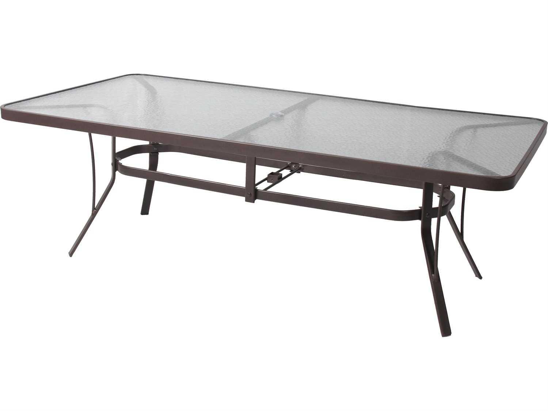 suncoast cast aluminum 60 x 30 rectangular glass top dining table