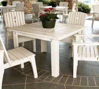 Wood Patio Furniture   Outdoor Wood Furniture   PatioLiving Wood Dining Sets