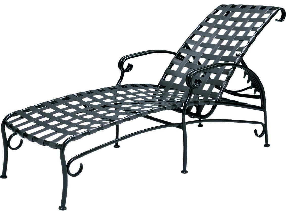 Woodard Ramsgate Strap Adjustable Chaise Lounge