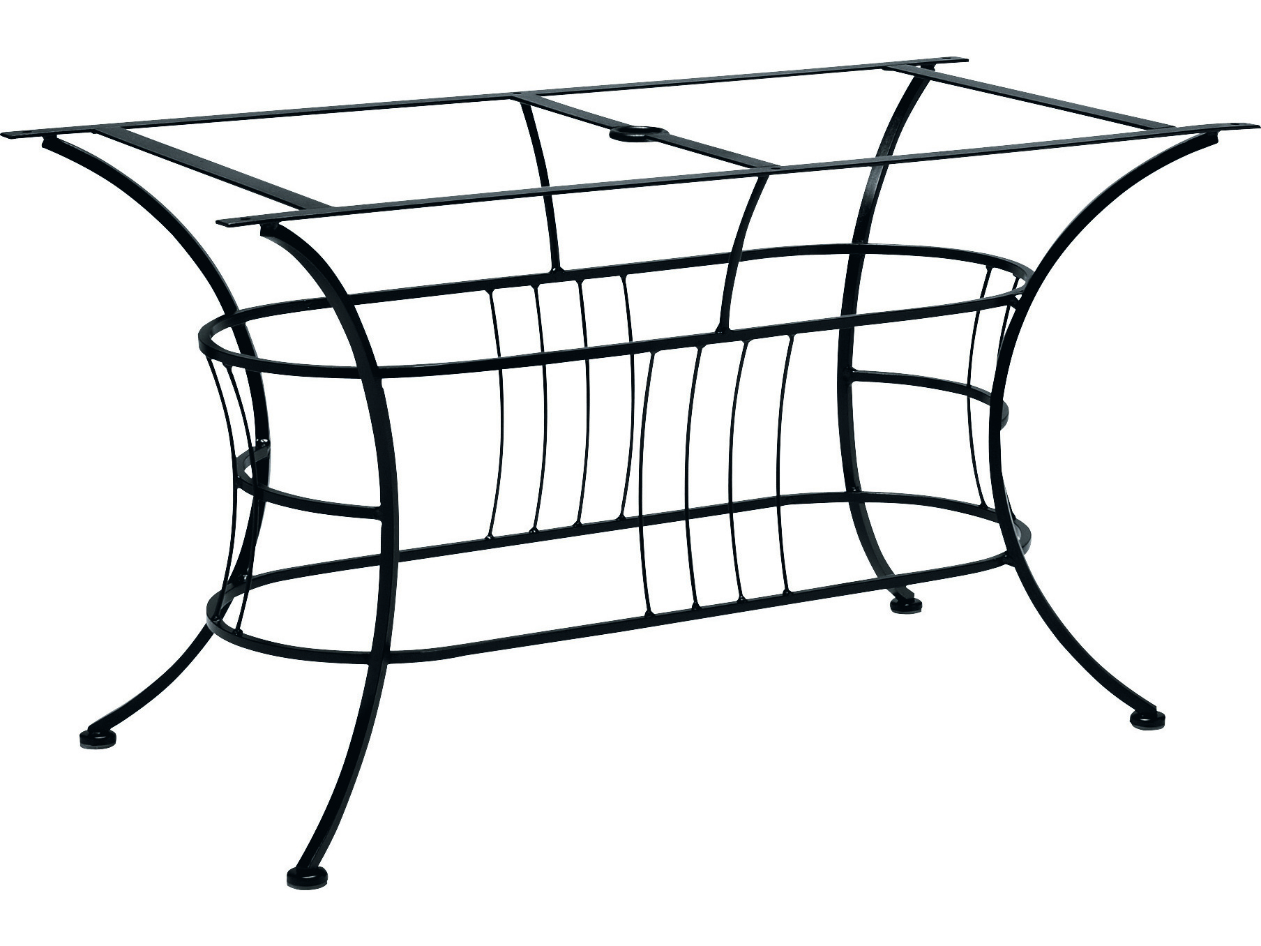 Woodard Easton Wrought Iron Large Dining Table Base Only