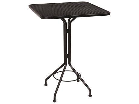 woodard wrought iron mesh 30 wide square bar height table