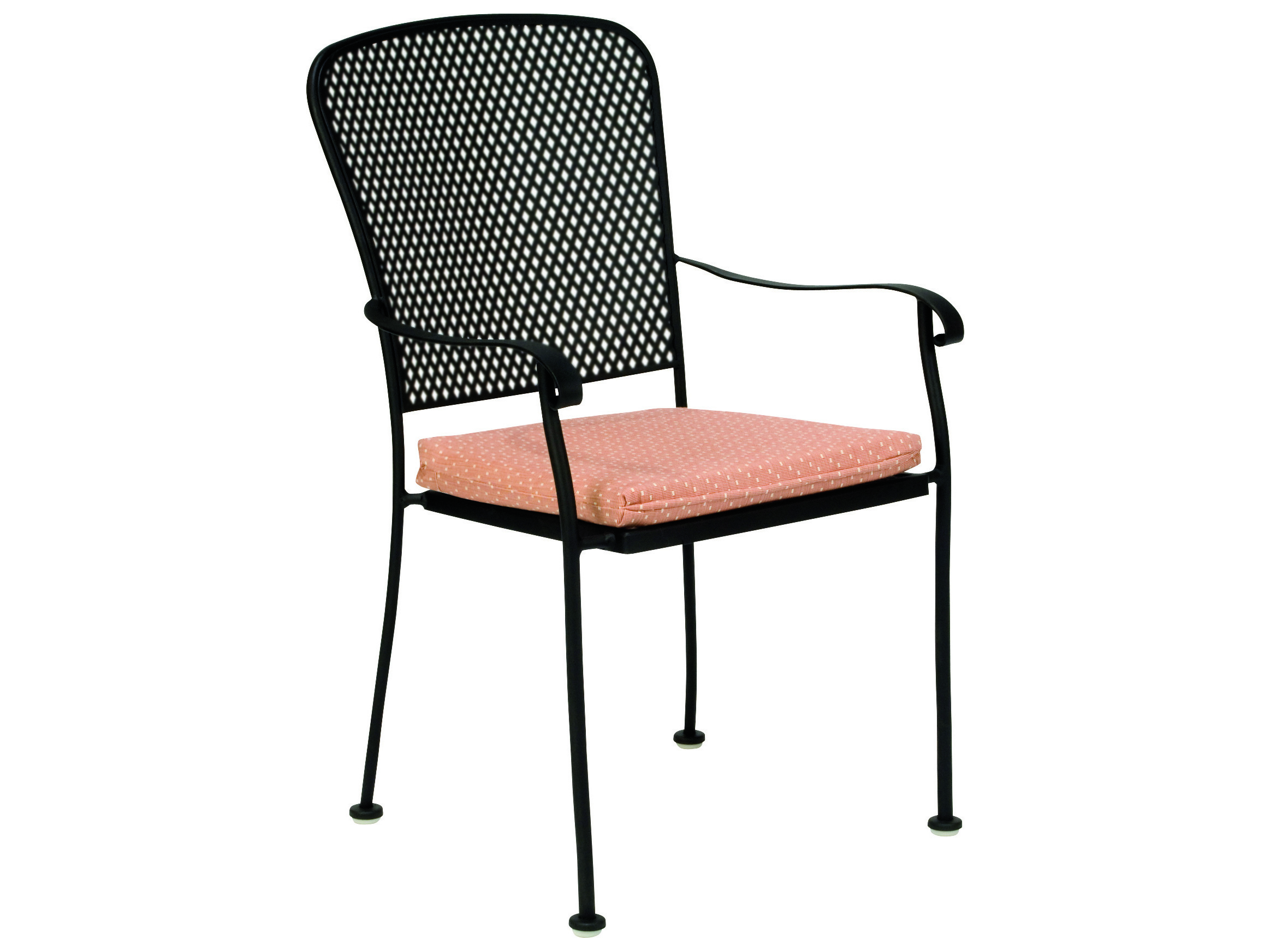 Woodard Fullerton Wrought Iron Stackable Dining Chair
