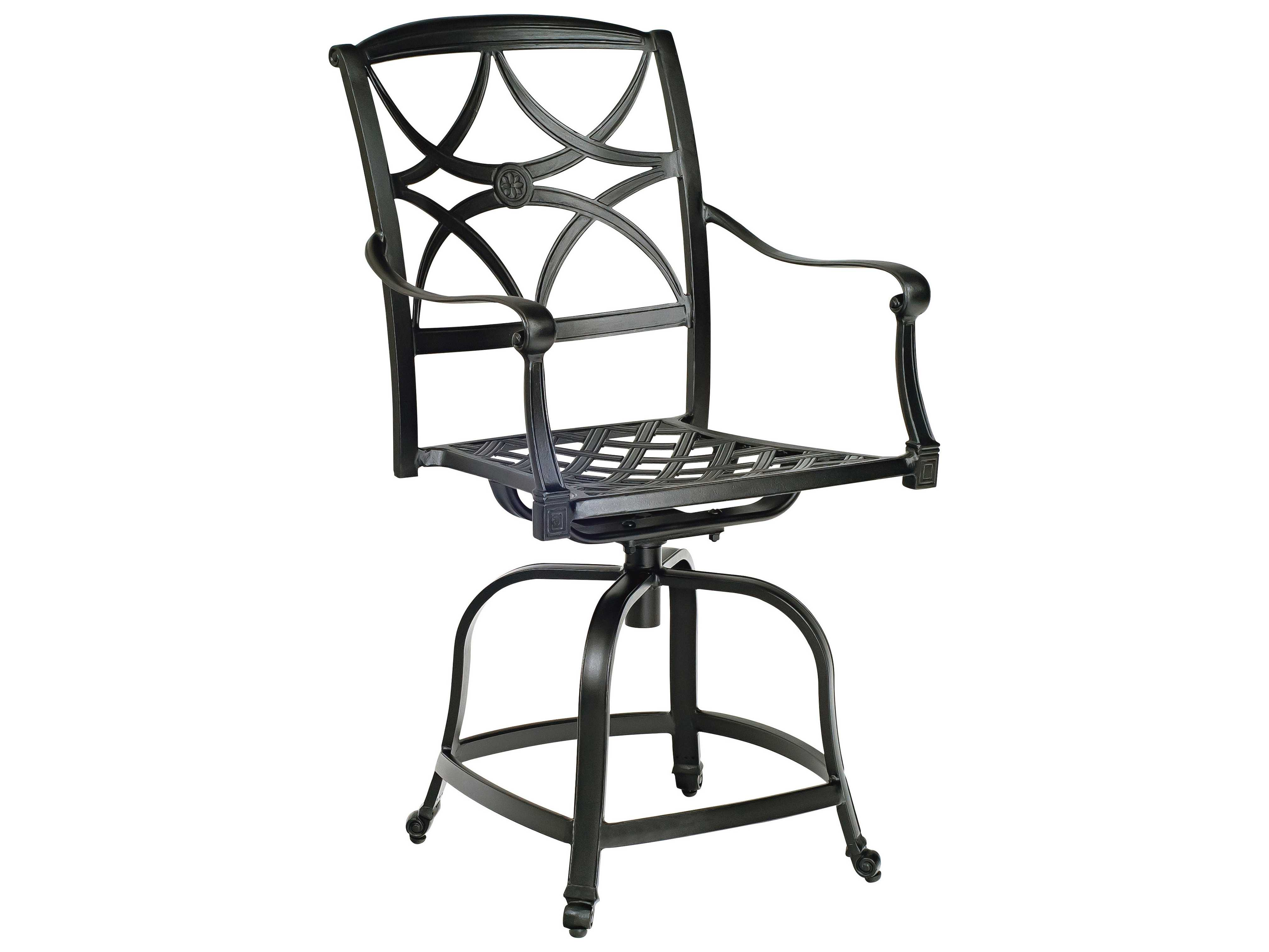 Woodard Wiltshire Aluminum Counter Height Fire Pit Set