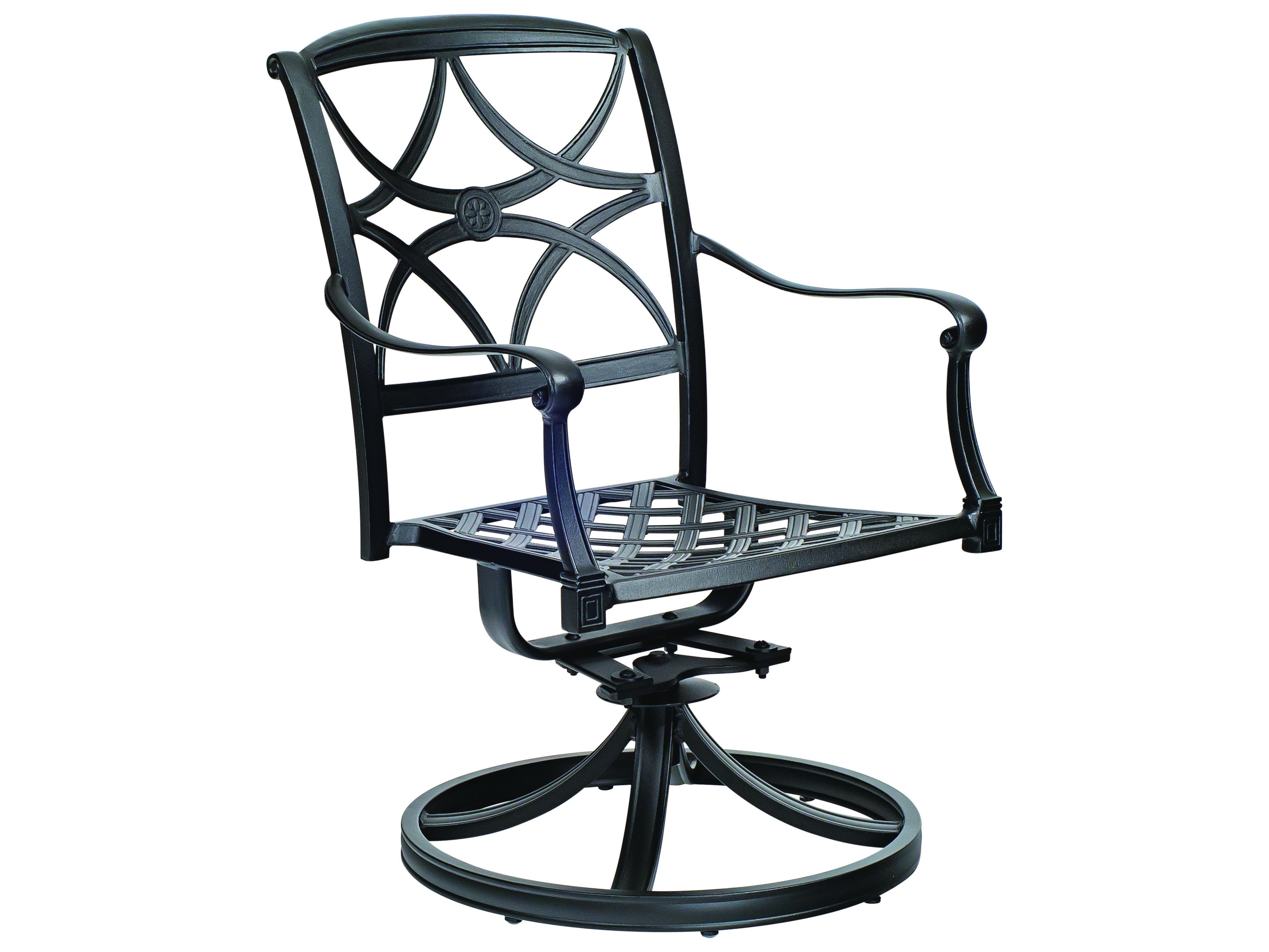 Woodard Wiltshire Cast Aluminum Swivel Rocker Dining Chair