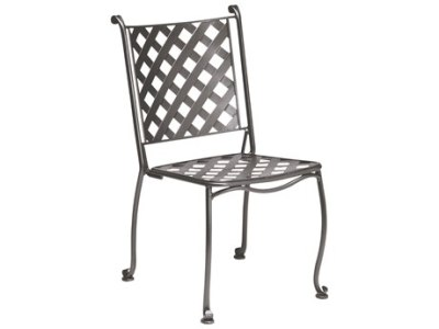 Wrought Iron Patio Furniture   PatioLiving Woodard Maddox Wrought Iron Stackable Bistro Side Chair