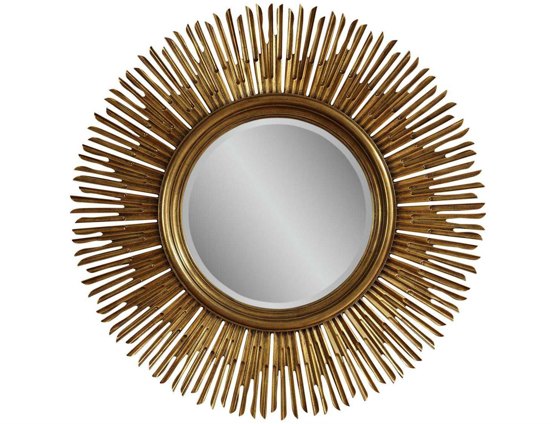 Bassett Mirror Old World 48 X 48 Gold Soleil Wall Mirror