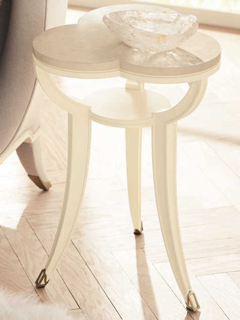 caracole classic platinum blonde ivory 16 wide end table