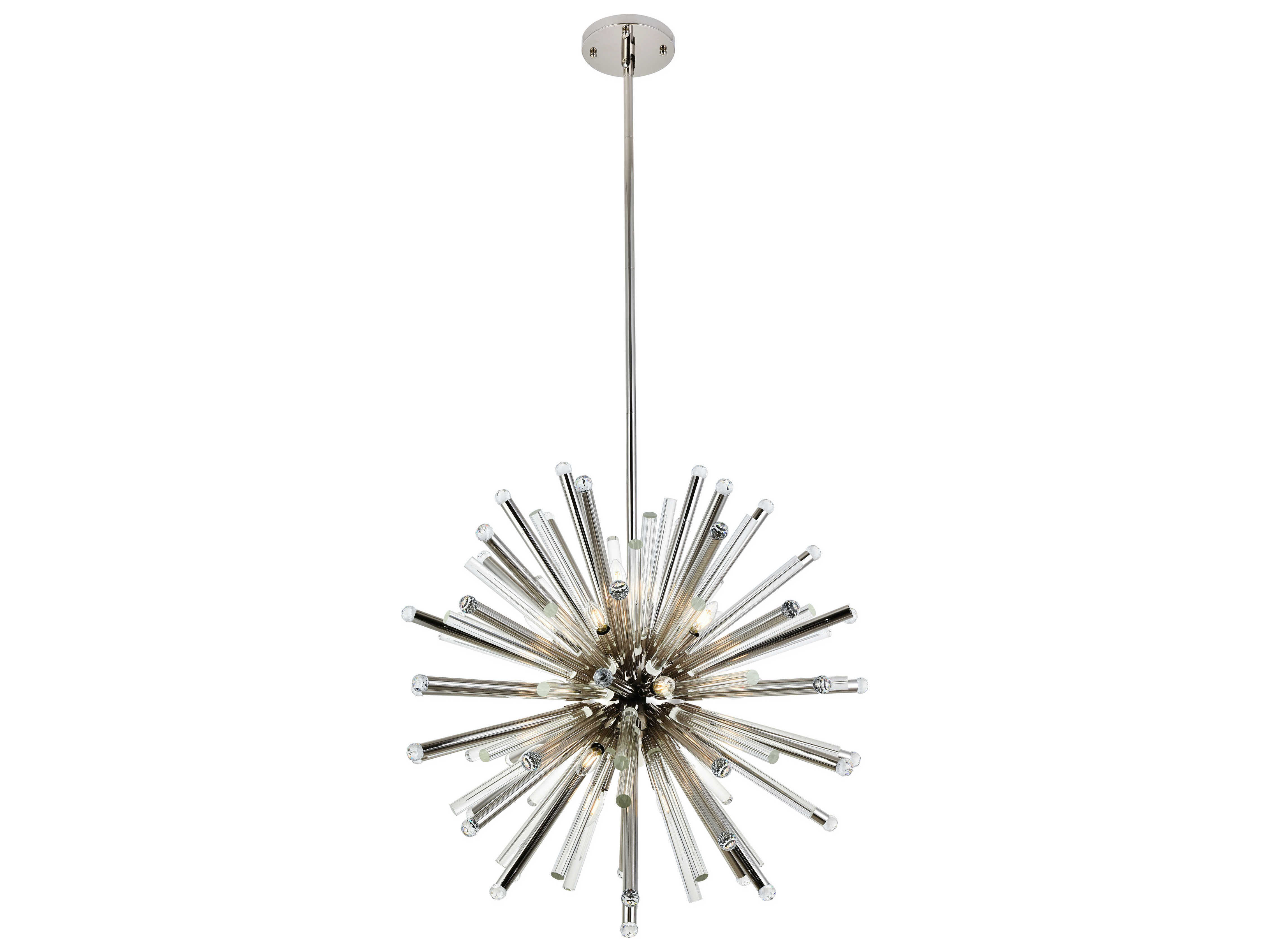 Elegant Lighting Maxwell Polished Nickel 21 Light 36