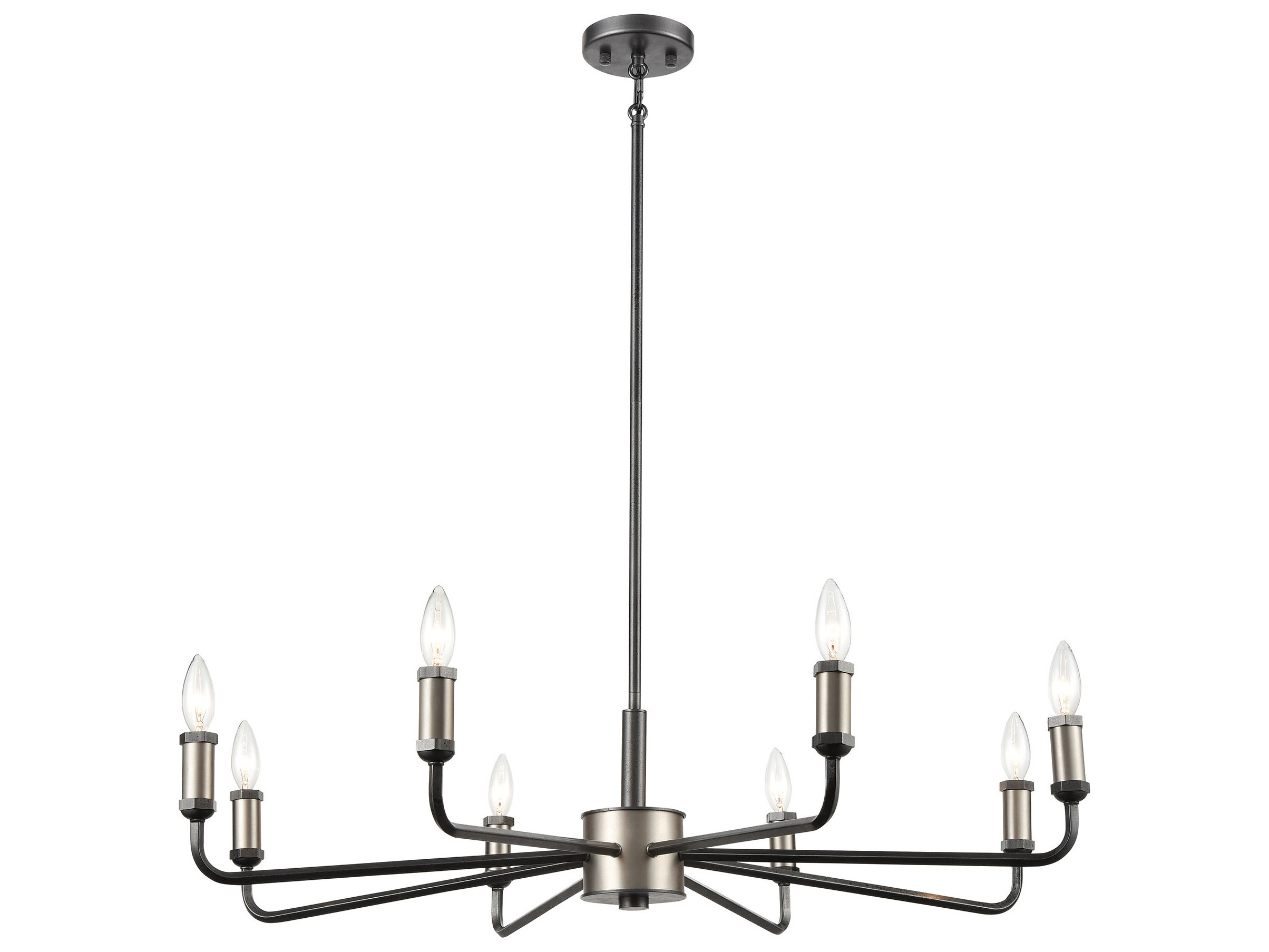 Elk Lighting Cortlandt Gray Iron Brushed Platinum 36