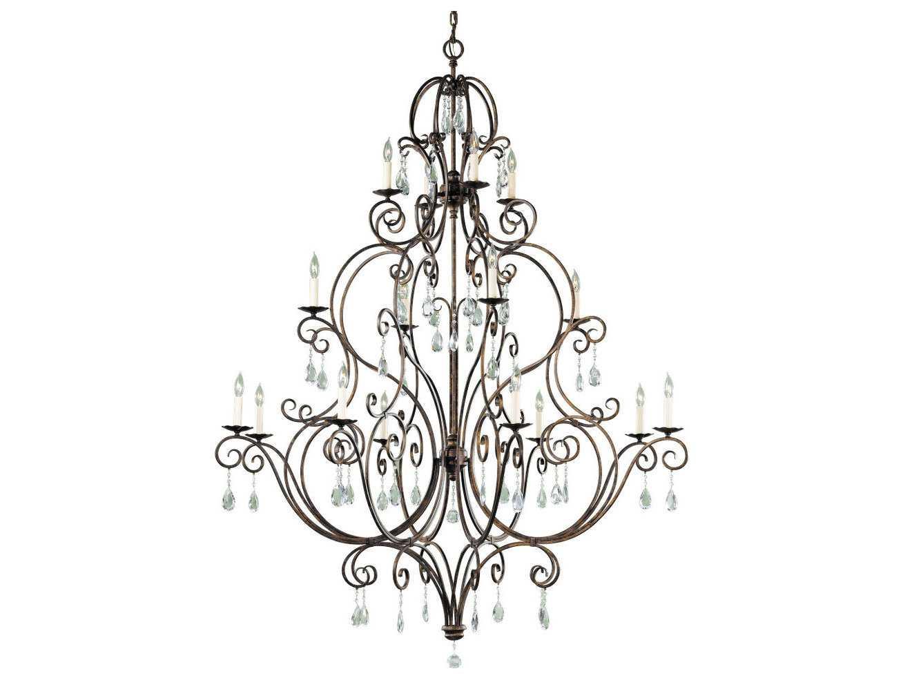 Feiss Chateau Mocha Bronze 53 5 Wide 16 Light Grand