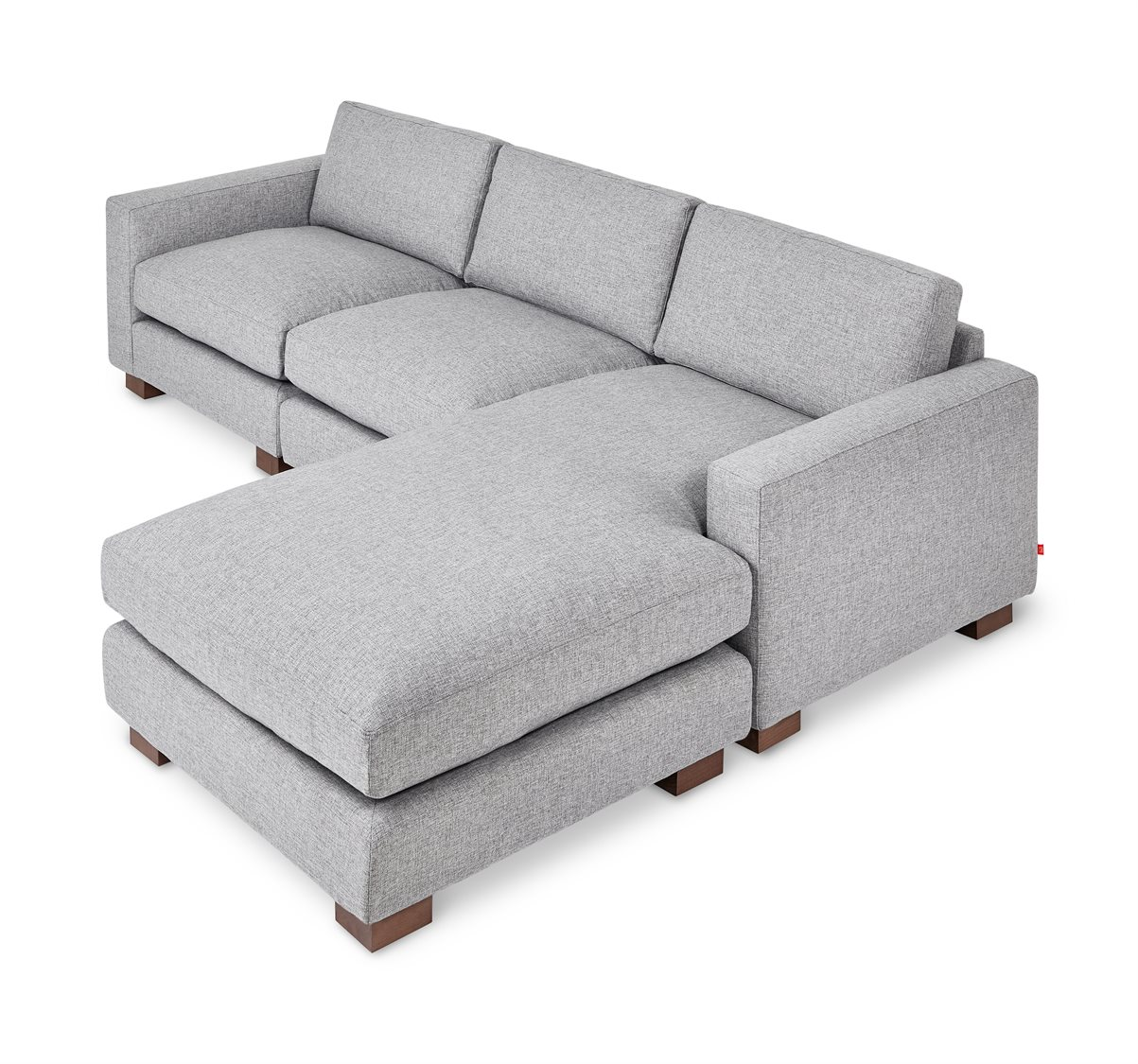 gus modern parkdale parliament stone sectional sofa