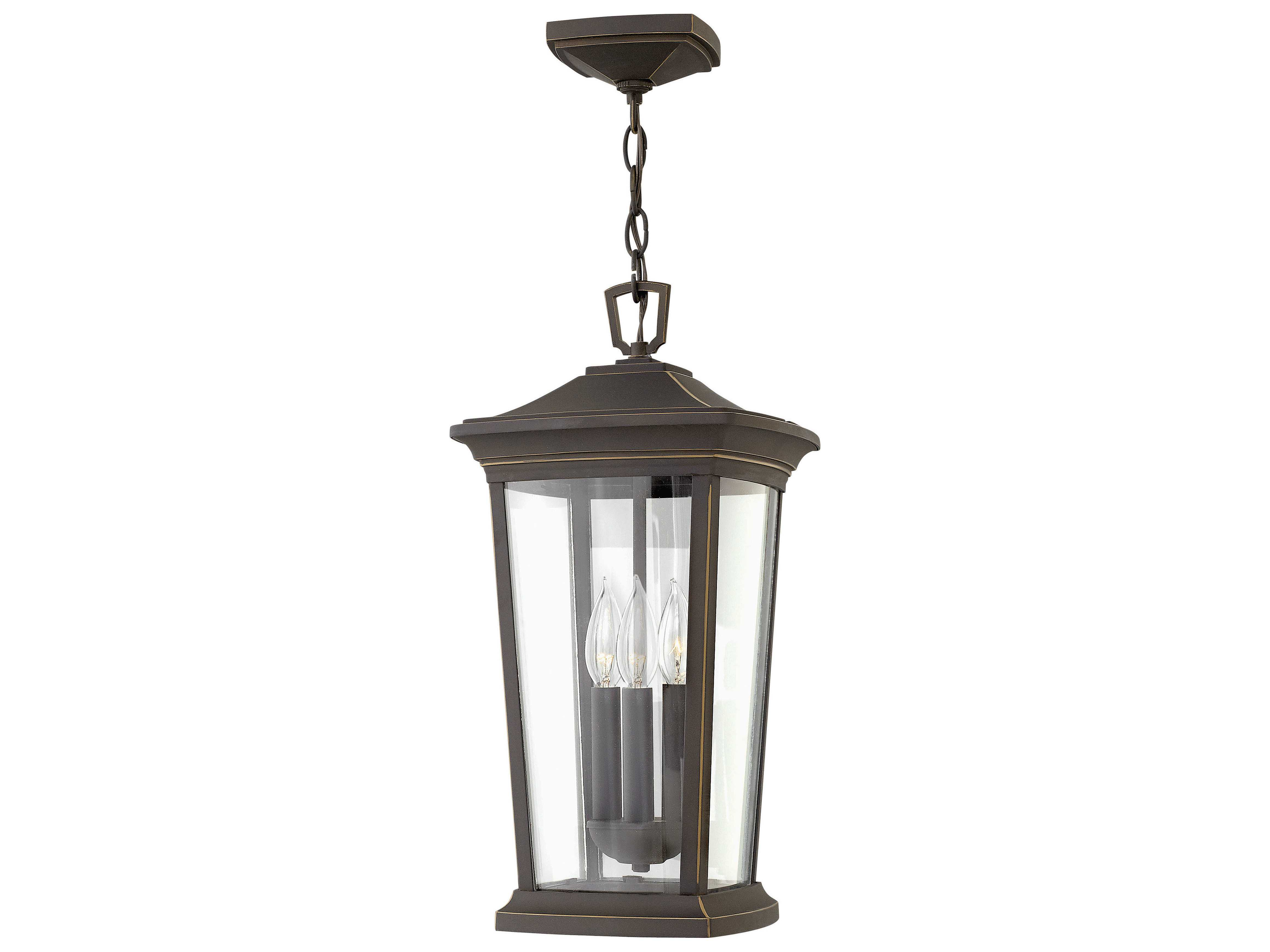hinkley lighting bromley oil rubbed bronze three light outdoor hanging light hy2362oz