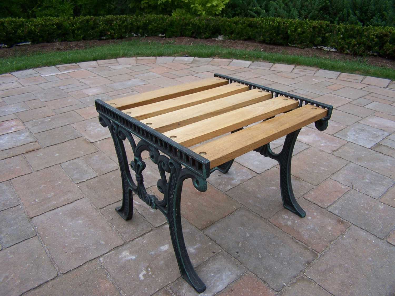 Oakland Living Cast Iron 19 X 15 Rectangular Wooden End Table In Verdi Green Pt 5e Vgy