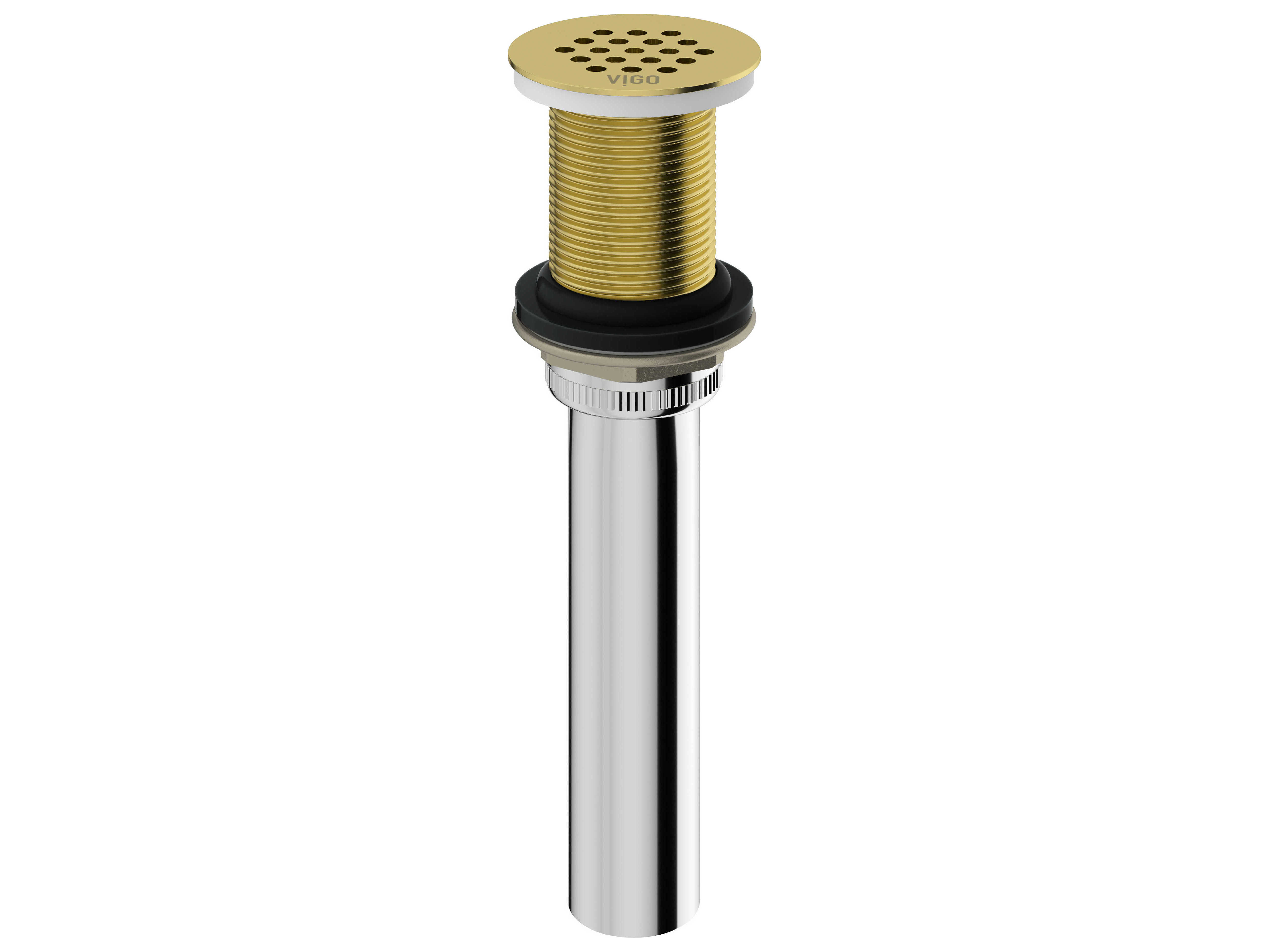 vigo matte brushed gold vessel bathroom sink drain vivg07001mg