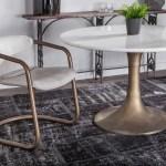 World Interiors Chiavari White Distressed Antique Brushed Bronze Arm Dining Chair Set Of 2 Witzwcidc22vw2x