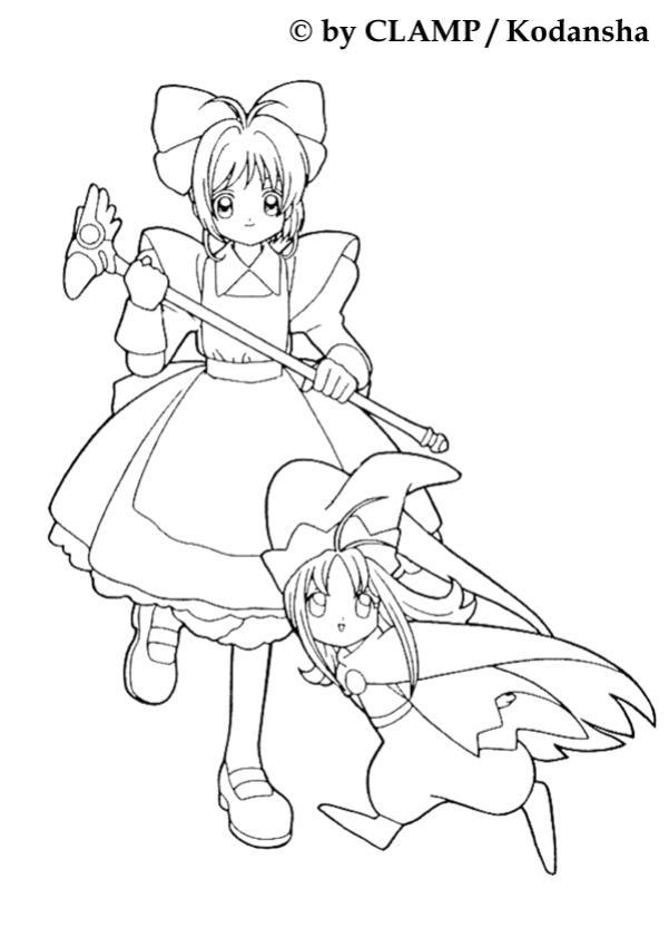 Sakura Und Ein Kleines Mdchen Zum Ausmalen Dehellokidscom