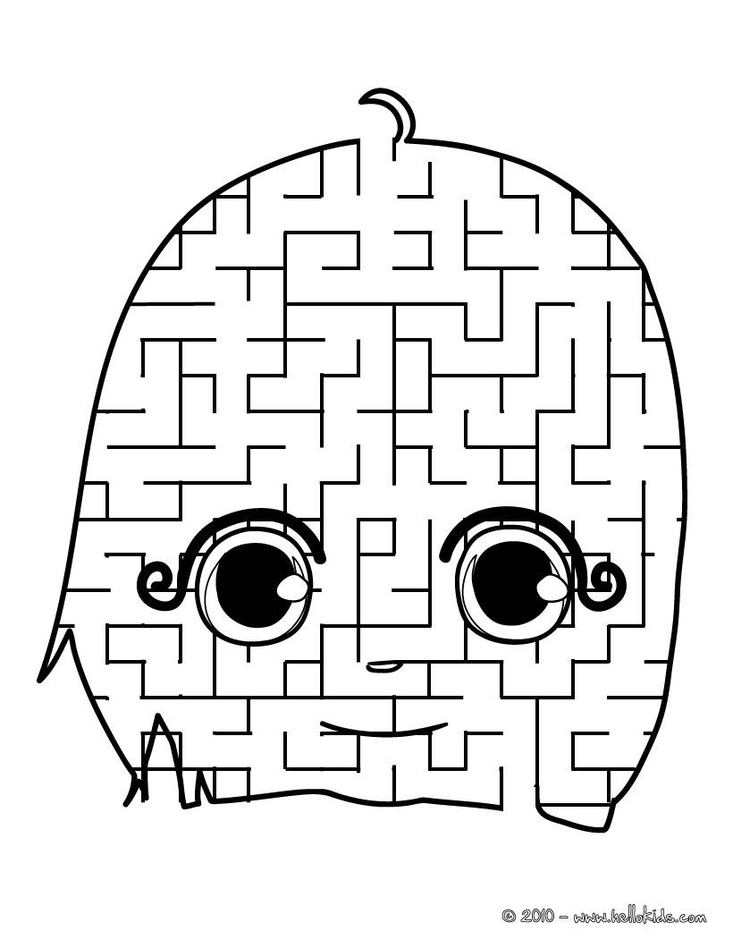 Mdchen Gesicht Lustiges Labyrinth Zum Ausdrucken