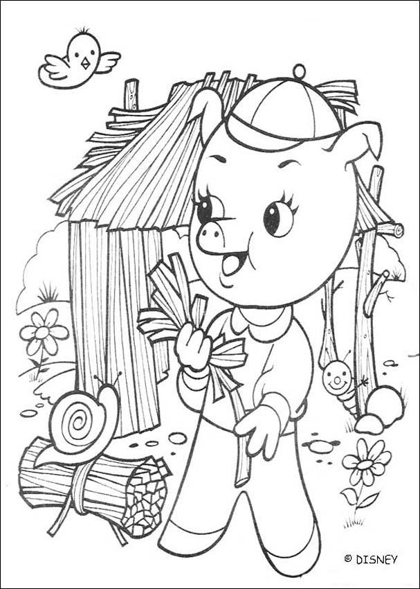 Pfeifer Baut Sein Strohhaus Zum Ausmalen Dehellokidscom