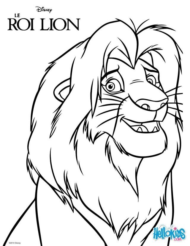 Simba, der könig der löwen zum ausmalen - de.hellokids.com