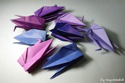 3_purple_Origami_crane