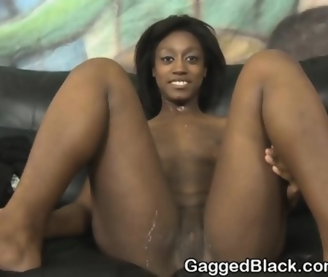 Black Chick With Frizzy Hair Choking On White Dick Scene 6