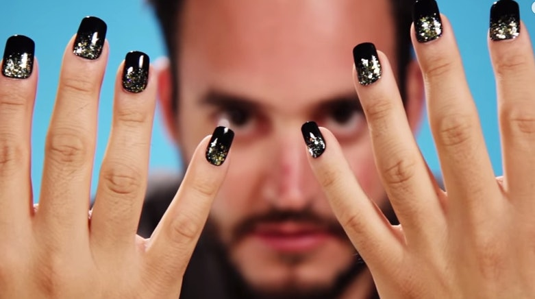This Guy Clearly Has Fun Messing Around With Fake Nails And Wields Them Like Weapons Of Looking Good